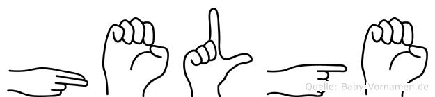 Helge im Fingeralphabet der Deutschen Gebärdensprache