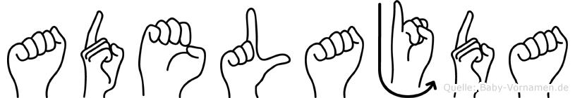 Adelajda im Fingeralphabet der Deutschen Gebärdensprache