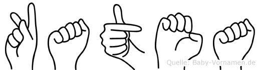 Katea im Fingeralphabet der Deutschen Gebärdensprache