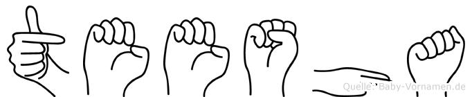 Teesha in Fingersprache für Gehörlose