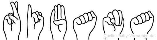 Ribana im Fingeralphabet der Deutschen Gebärdensprache