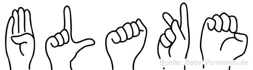 Blake in Fingersprache für Gehörlose