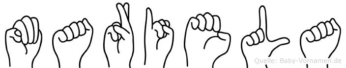 Mariela in Fingersprache für Gehörlose