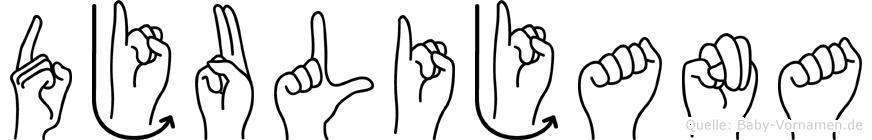 Djulijana in Fingersprache für Gehörlose