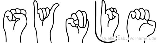 Synje im Fingeralphabet der Deutschen Gebärdensprache