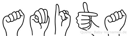 Amita in Fingersprache für Gehörlose