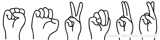 Sevnur in Fingersprache für Gehörlose