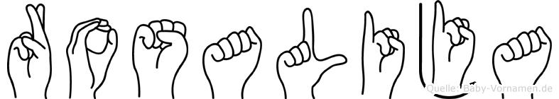 Rosalija in Fingersprache für Gehörlose