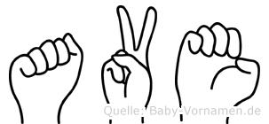 Ave in Fingersprache für Gehörlose