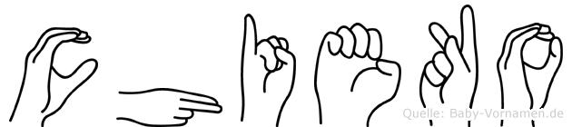 Chieko in Fingersprache für Gehörlose