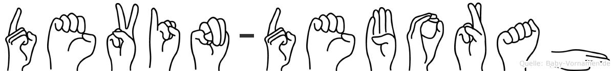 Devin-Deborah im Fingeralphabet der Deutschen Gebärdensprache