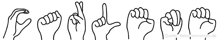 Carlene im Fingeralphabet der Deutschen Gebärdensprache