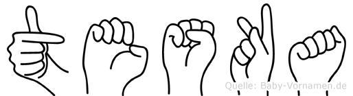 Teska in Fingersprache für Gehörlose