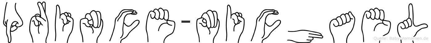 Prince-Michael im Fingeralphabet der Deutschen Gebärdensprache