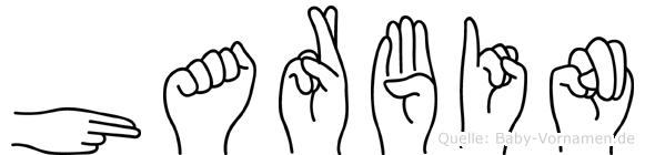 Harbin im Fingeralphabet der Deutschen Gebärdensprache