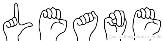 Leane im Fingeralphabet der Deutschen Gebärdensprache