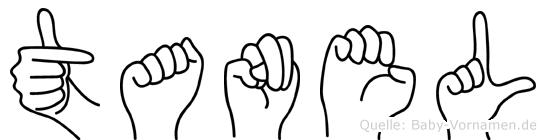 Tanel im Fingeralphabet der Deutschen Gebärdensprache