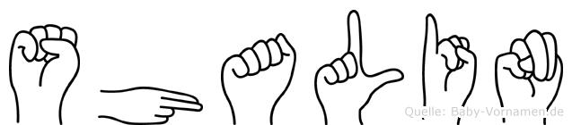 Shalin in Fingersprache für Gehörlose