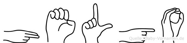 Helgo in Fingersprache für Gehörlose
