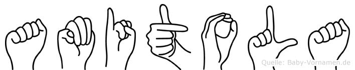 Amitola in Fingersprache für Gehörlose