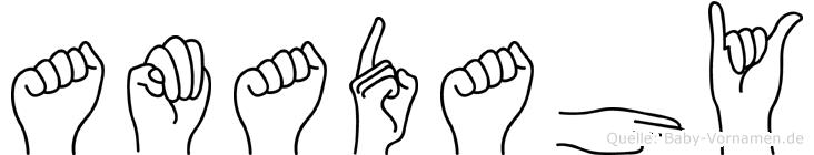 Amadahy im Fingeralphabet der Deutschen Gebärdensprache