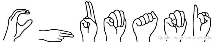 Chumani im Fingeralphabet der Deutschen Gebärdensprache