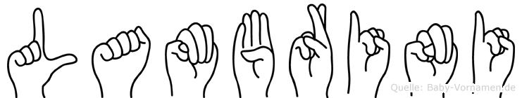 Lambrini in Fingersprache f�r Geh�rlose