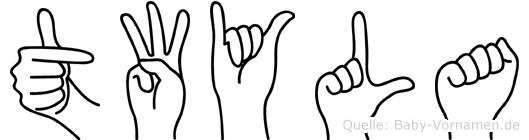 Twyla im Fingeralphabet der Deutschen Gebärdensprache