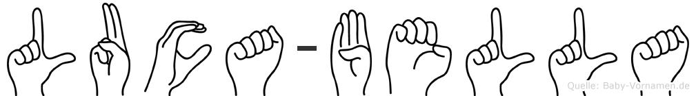 Luca-Bella im Fingeralphabet der Deutschen Gebärdensprache