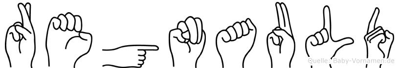 Regnauld im Fingeralphabet der Deutschen Gebärdensprache