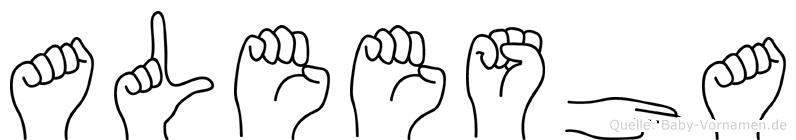 Aleesha im Fingeralphabet der Deutschen Gebärdensprache