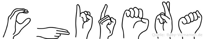 Chidera in Fingersprache für Gehörlose