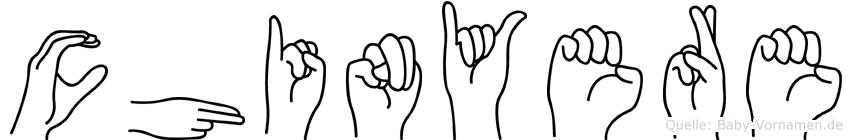 Chinyere in Fingersprache für Gehörlose
