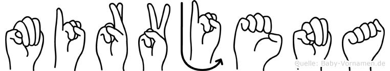 Mirvjena im Fingeralphabet der Deutschen Gebärdensprache