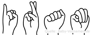 Iram in Fingersprache für Gehörlose