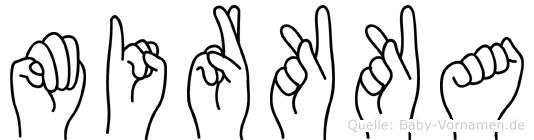 Mirkka im Fingeralphabet der Deutschen Gebärdensprache