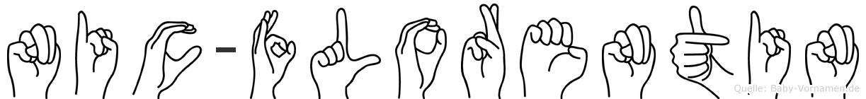 Nic-Florentin im Fingeralphabet der Deutschen Gebärdensprache