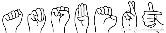Ansbert in Fingersprache für Gehörlose