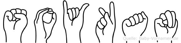 Soykan im Fingeralphabet der Deutschen Gebärdensprache