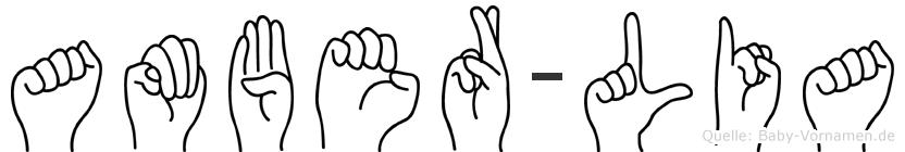 Amber-Lia im Fingeralphabet der Deutschen Gebärdensprache