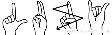 Luzy in Fingersprache für Gehörlose