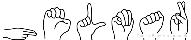 Helmar im Fingeralphabet der Deutschen Gebärdensprache