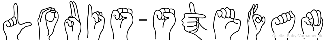 Louis-Stefan im Fingeralphabet der Deutschen Gebärdensprache