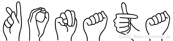 Konata in Fingersprache für Gehörlose