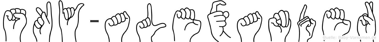 Sky-Alexander im Fingeralphabet der Deutschen Gebärdensprache