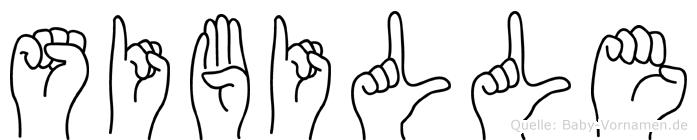 Sibille in Fingersprache für Gehörlose