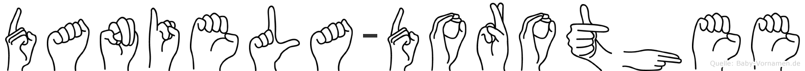 Daniela-Dorothee im Fingeralphabet der Deutschen Gebärdensprache