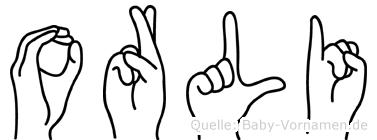 Orli in Fingersprache für Gehörlose