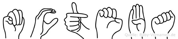 Mücteba im Fingeralphabet der Deutschen Gebärdensprache