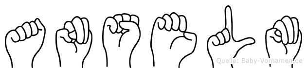 Anselm im Fingeralphabet der Deutschen Gebärdensprache